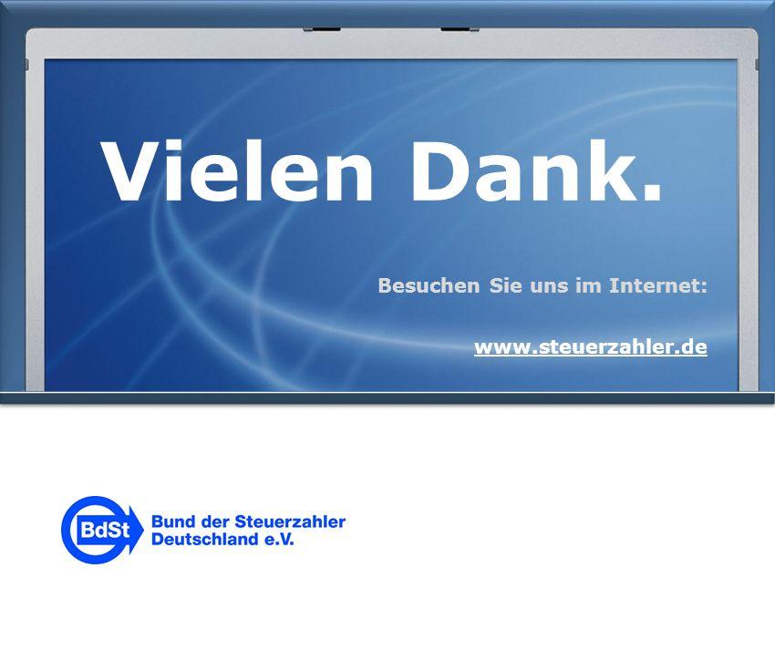 Vielen Dank. Besuchen Sie uns im Internet: www.steuerzahler.de
