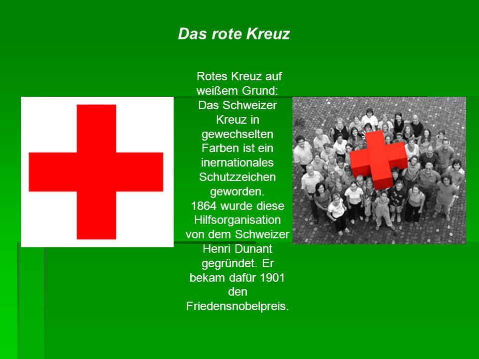 Rotes Kreuz auf weißem Grund: