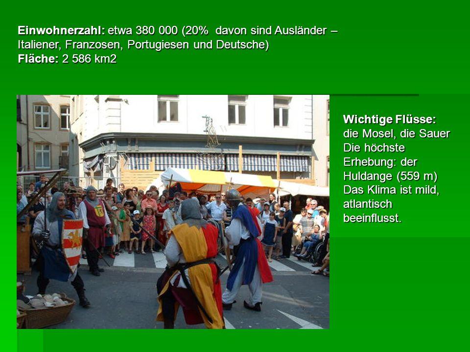 Einwohnerzahl: etwa 380 000 (20% davon sind Ausländer – Italiener, Franzosen, Portugiesen und Deutsche)