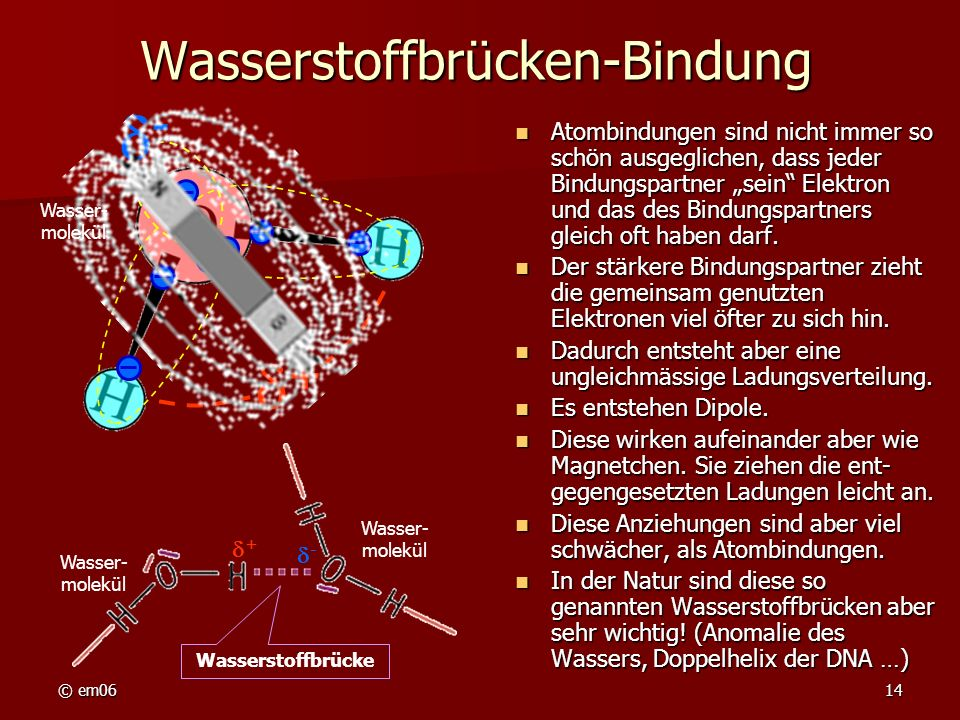 Wasserstoffbrücken-Bindung