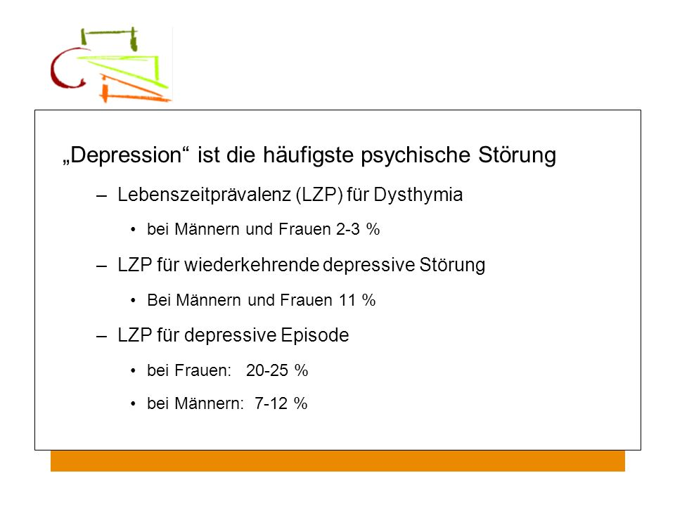 """""""Depression ist die häufigste psychische Störung"""