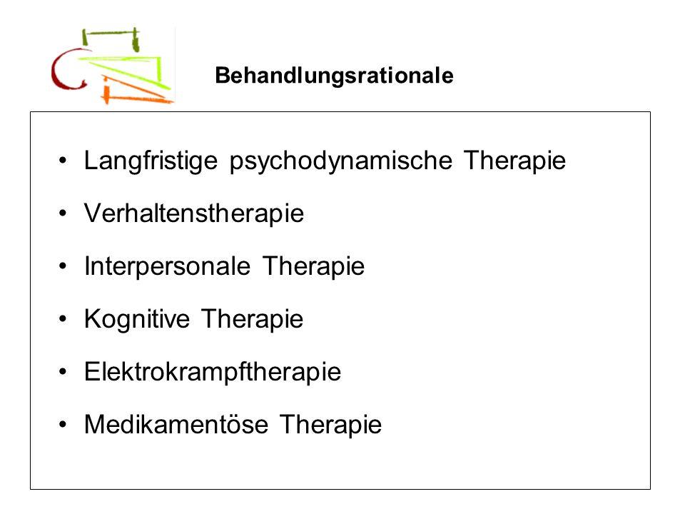 Langfristige psychodynamische Therapie Verhaltenstherapie