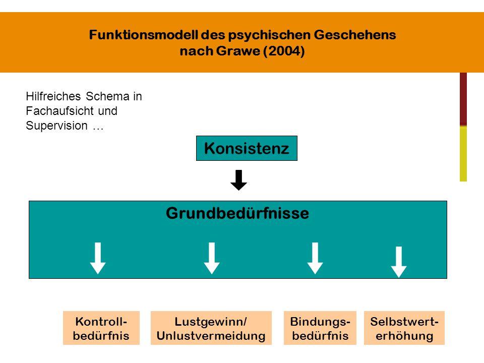 Funktionsmodell des psychischen Geschehens nach Grawe (2004)