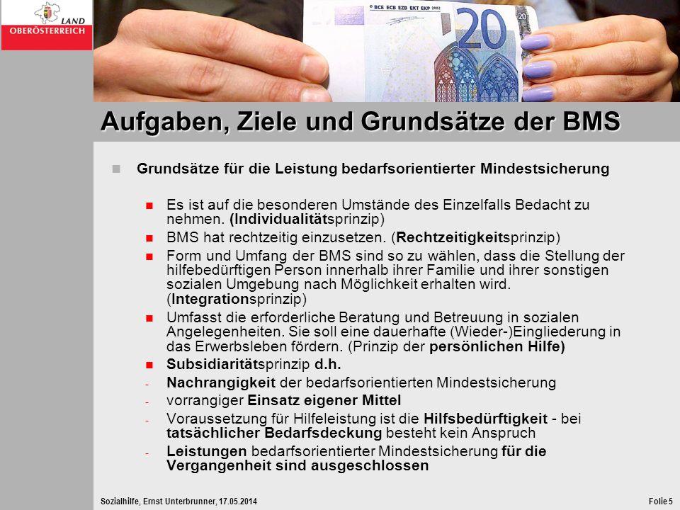 Aufgaben, Ziele und Grundsätze der BMS