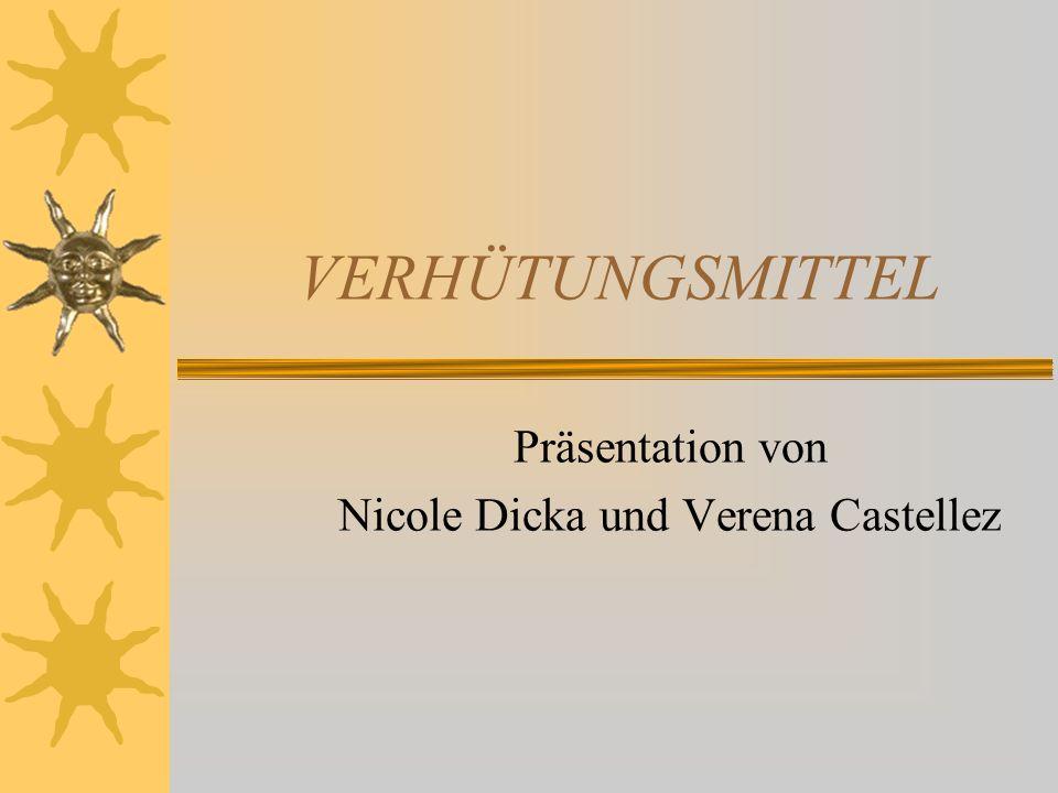 Präsentation von Nicole Dicka und Verena Castellez