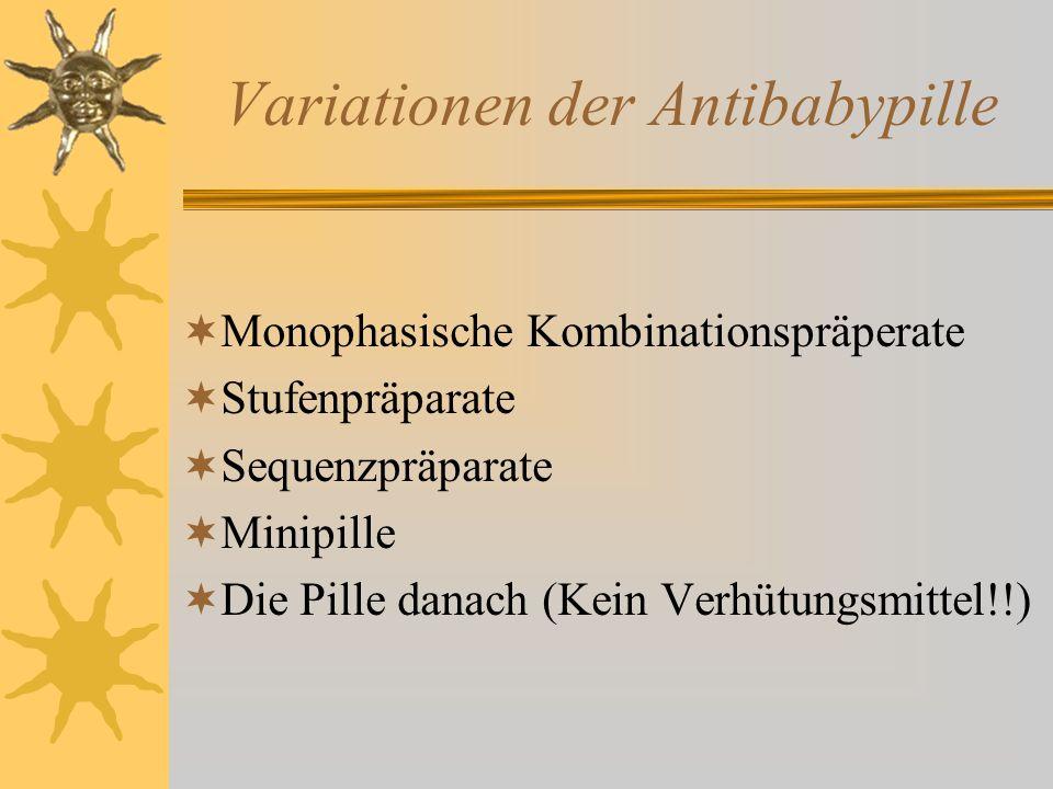 Variationen der Antibabypille