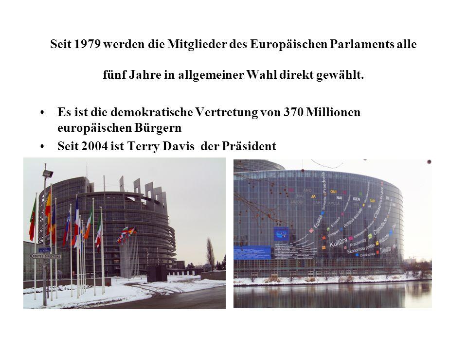 Seit 1979 werden die Mitglieder des Europäischen Parlaments alle fünf Jahre in allgemeiner Wahl direkt gewählt.