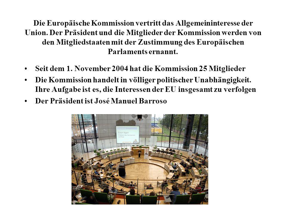 Die Europäische Kommission vertritt das Allgemeininteresse der Union