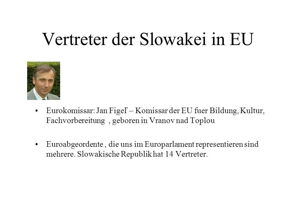 Vertreter der Slowakei in EU