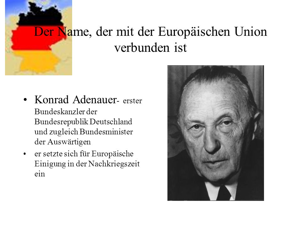 Der Name, der mit der Europäischen Union verbunden ist