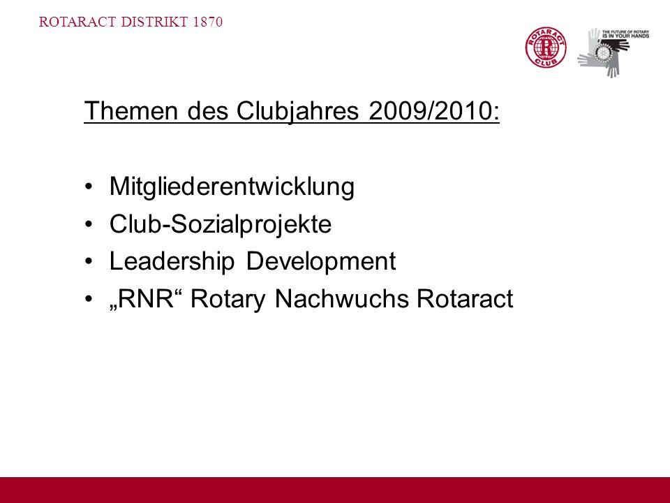 Themen des Clubjahres 2009/2010: