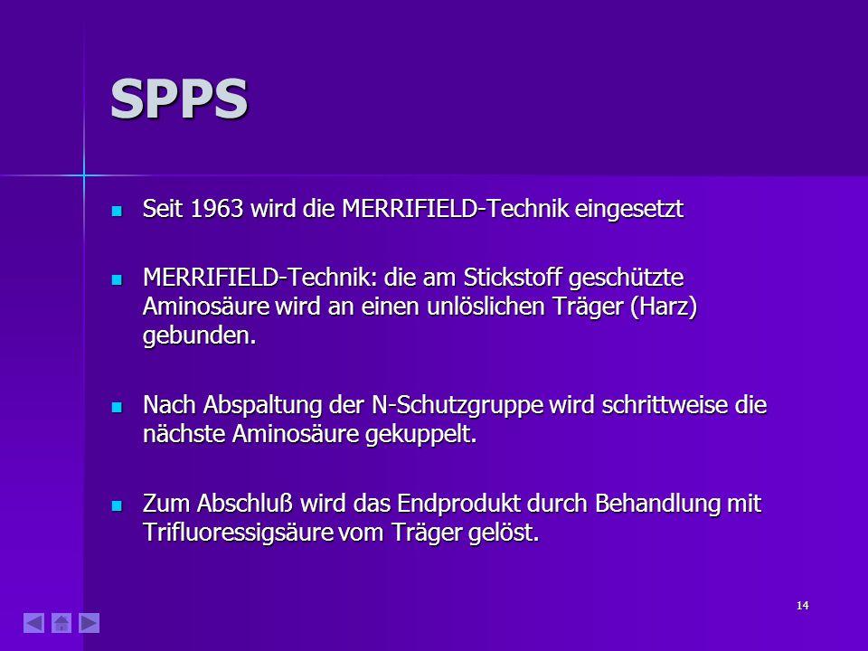 SPPS Seit 1963 wird die MERRIFIELD-Technik eingesetzt