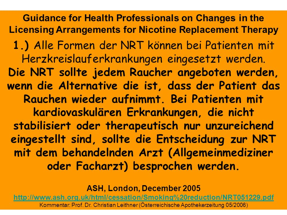 Guidance for Health Professionals on Changes in the
