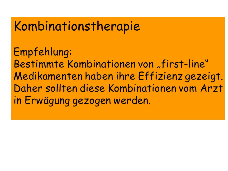 Kombinationstherapie