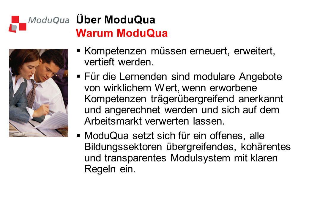 Über ModuQua Warum ModuQua