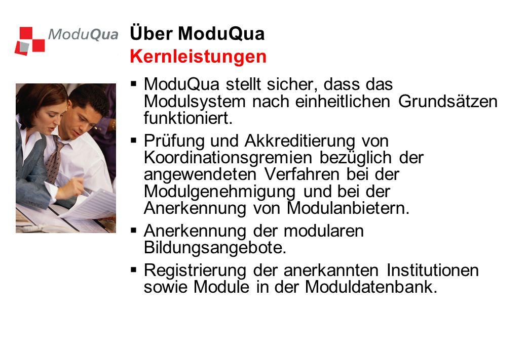 Über ModuQua Kernleistungen
