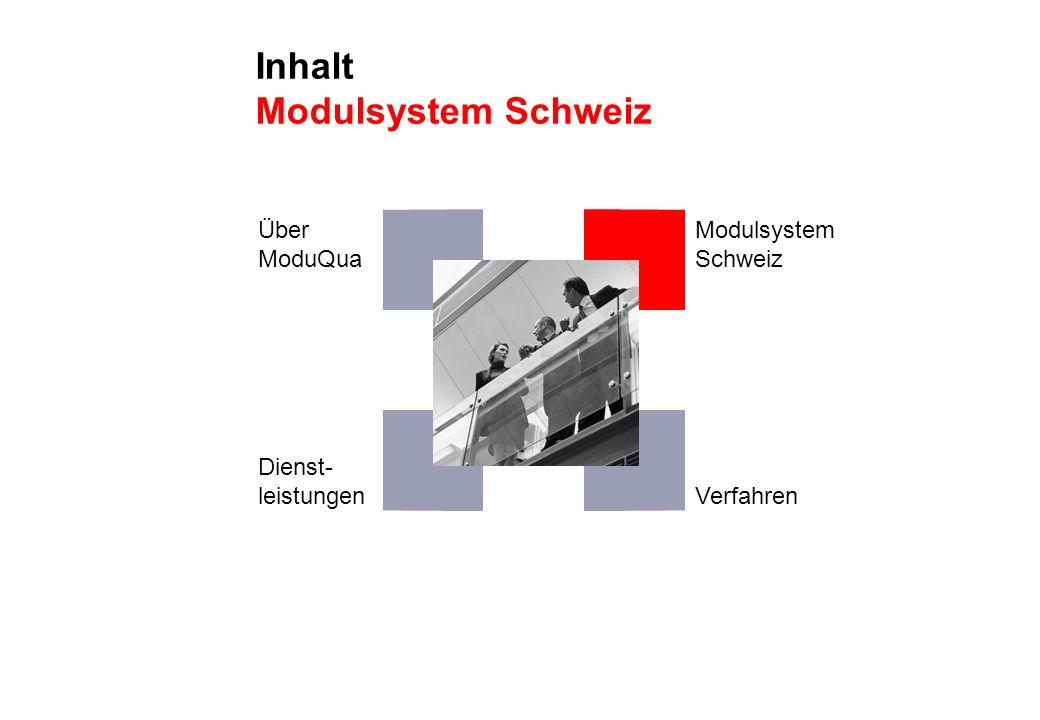Inhalt Modulsystem Schweiz