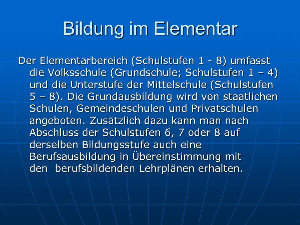 Bildung im Elementar