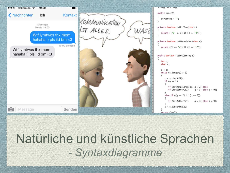 Natürliche und künstliche Sprachen