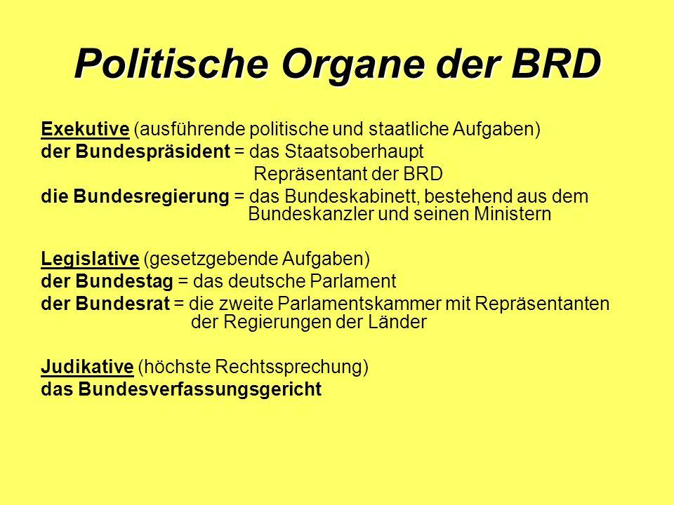 Politische Organe der BRD