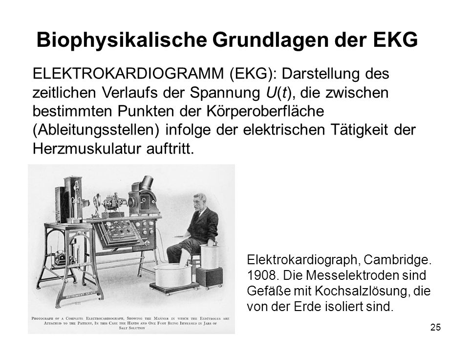 Biophysikalische Grundlagen der EKG