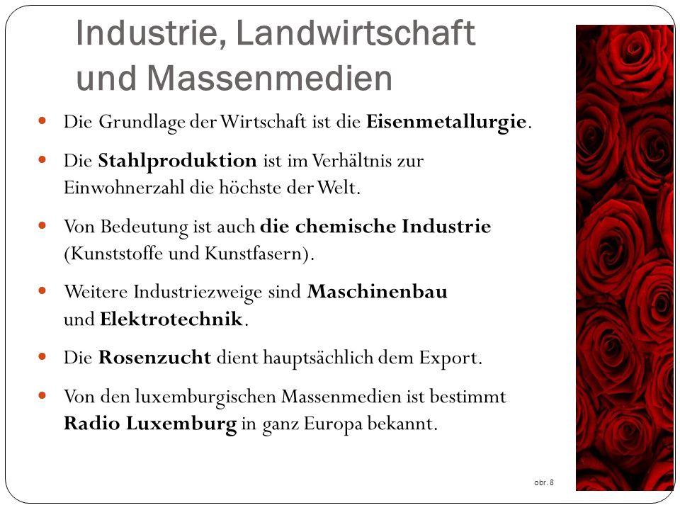 Industrie, Landwirtschaft und Massenmedien