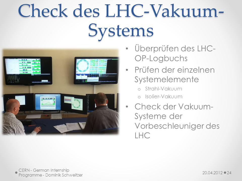 Check des LHC-Vakuum-Systems