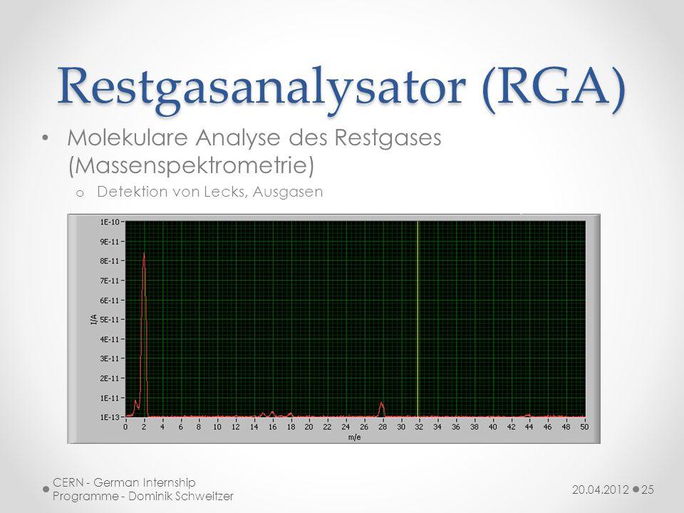 Restgasanalysator (RGA)