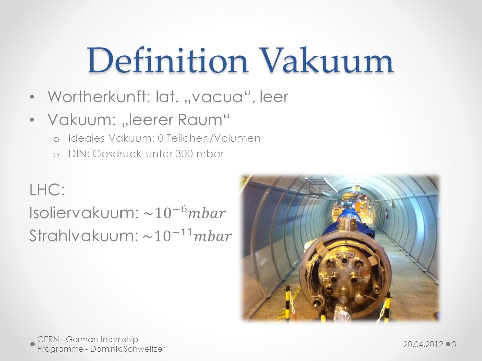 "Definition Vakuum Wortherkunft: lat. ""vacua , leer"