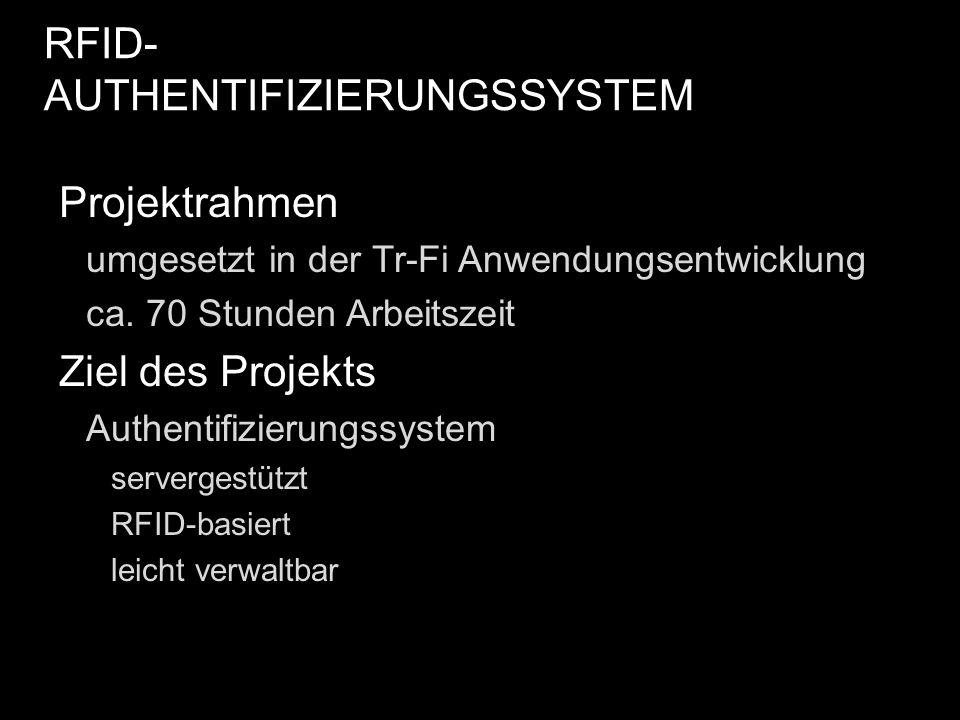 RFID-AUTHENTIFIZIERUNGSSYSTEM