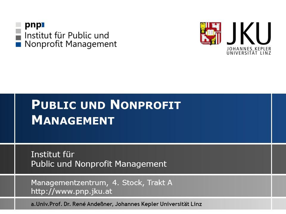Public und Nonprofit Management