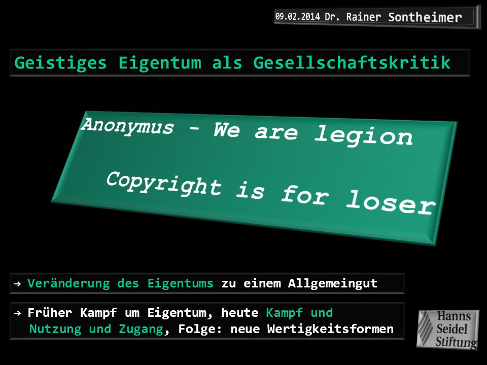 Anonymus - We are legion Copyright is for loser