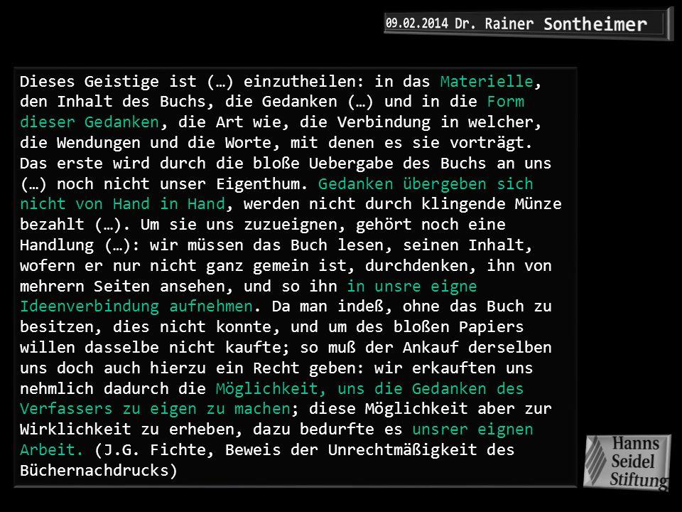 09.02.2014 Dr. Rainer Sontheimer