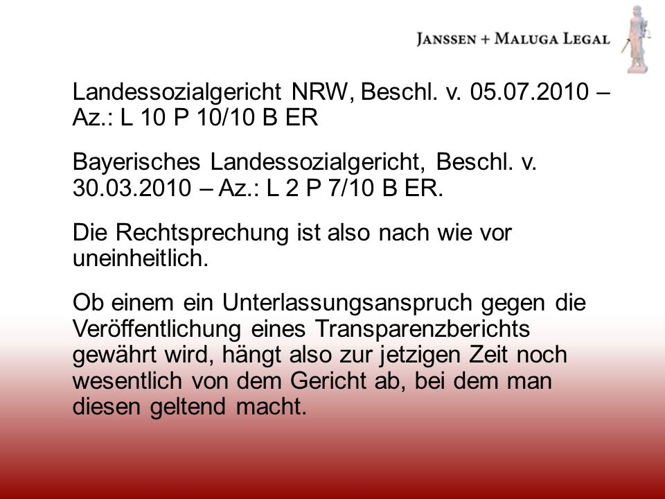 Landessozialgericht NRW, Beschl. v. 05. 07. 2010 – Az