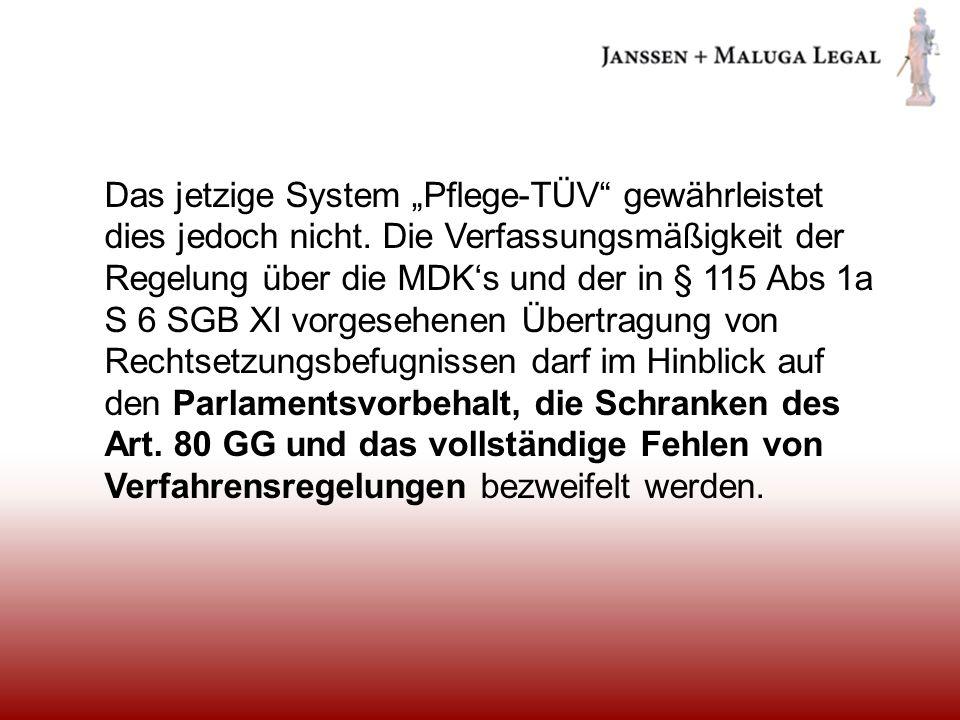 """Das jetzige System """"Pflege-TÜV gewährleistet dies jedoch nicht"""