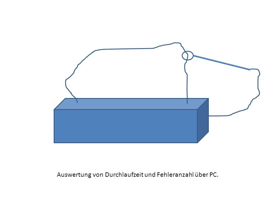 Auswertung von Durchlaufzeit und Fehleranzahl über PC.
