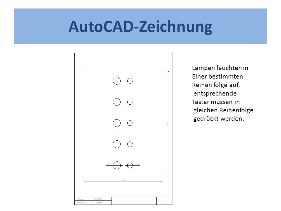 AutoCAD-Zeichnung Lampen leuchten in Einer bestimmten