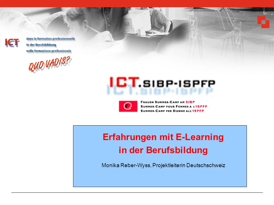 Erfahrungen mit E-Learning