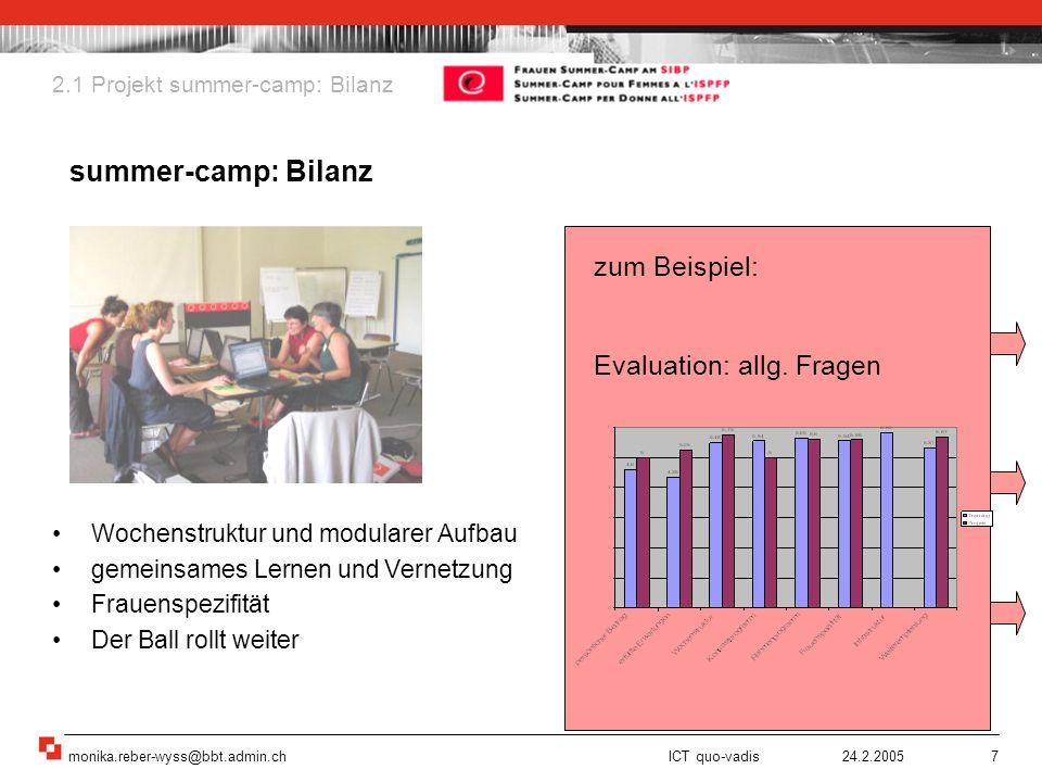 summer-camp: Bilanz zum Beispiel: Evaluation: allg. Fragen