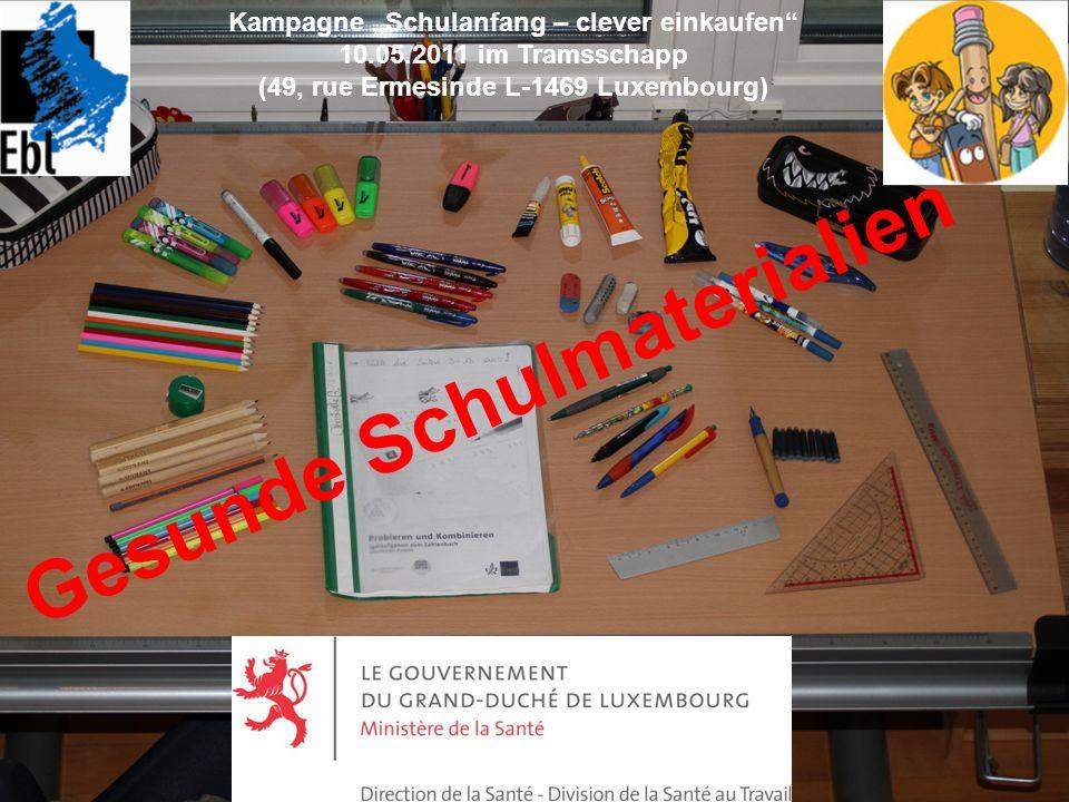 Gesunde Schulmaterialien