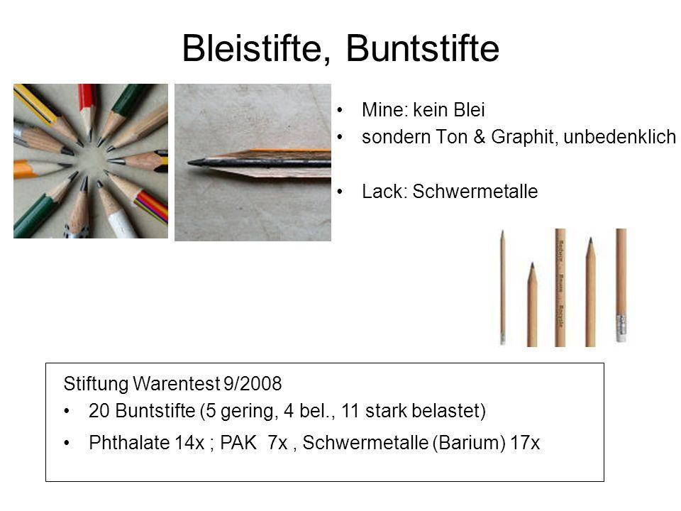 Bleistifte, Buntstifte