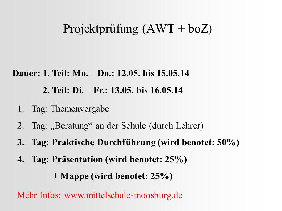 Projektprüfung (AWT + boZ)