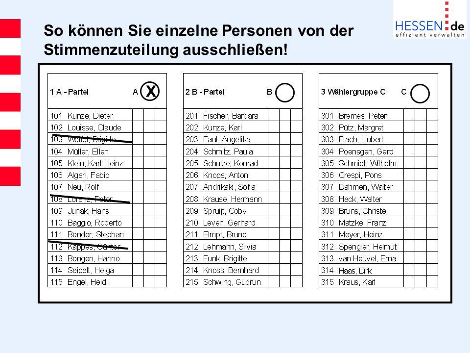 So können Sie einzelne Personen von der Stimmenzuteilung ausschließen!