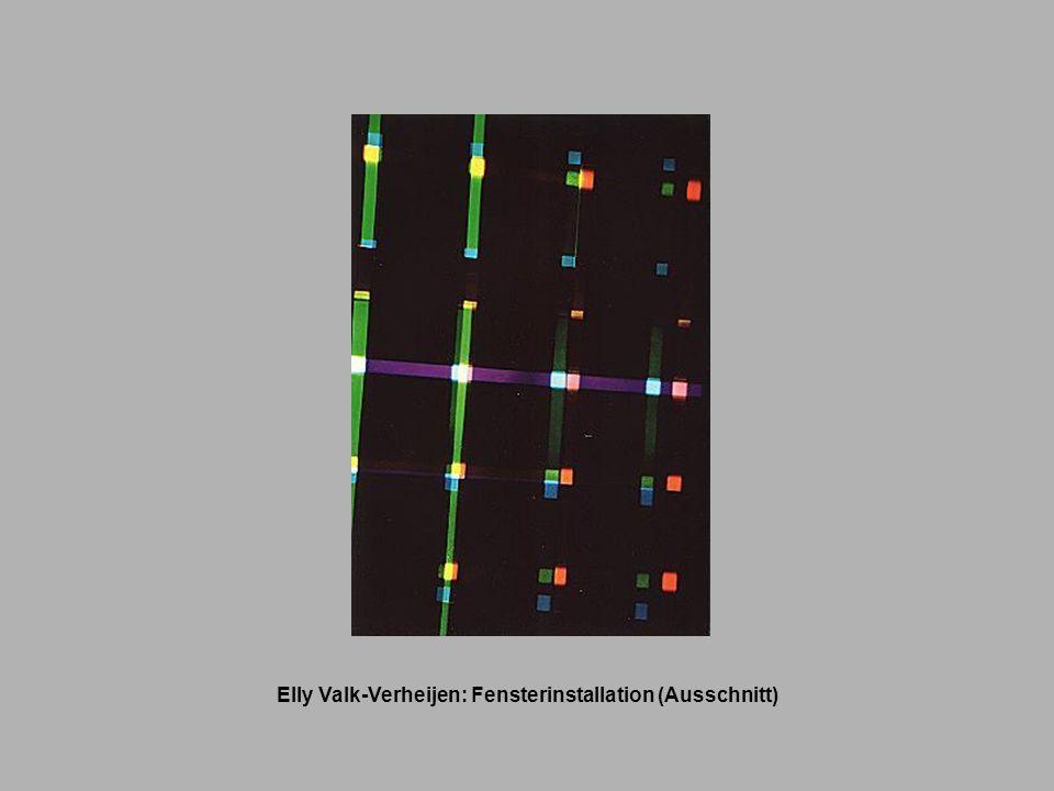 Elly Valk-Verheijen: Fensterinstallation (Ausschnitt)