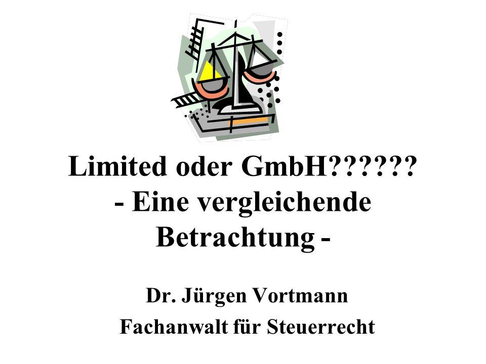 Limited oder GmbH - Eine vergleichende Betrachtung -