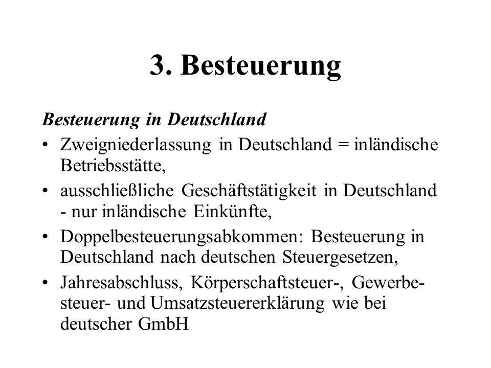 3. Besteuerung Besteuerung in Deutschland