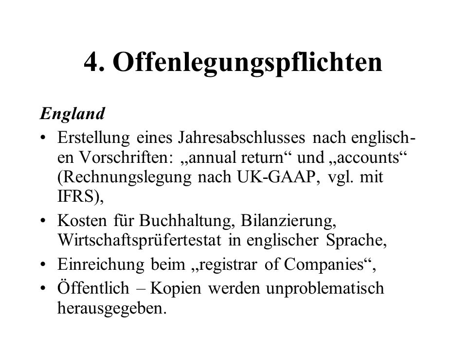 4. Offenlegungspflichten