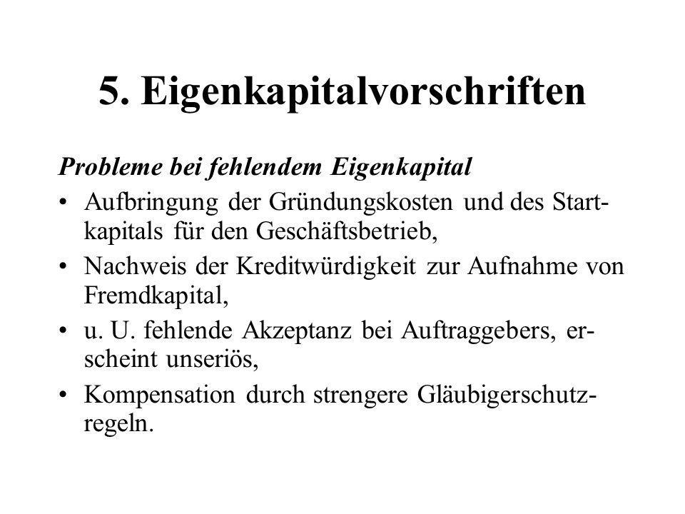 5. Eigenkapitalvorschriften