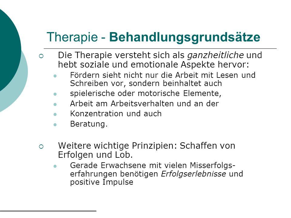 Therapie - Behandlungsgrundsätze