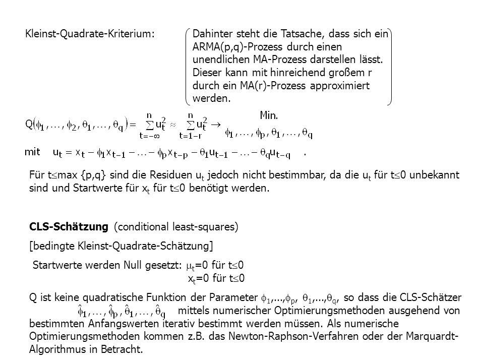 Kleinst-Quadrate-Kriterium: